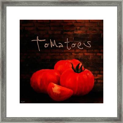 Tomatoes II Framed Print by Lourry Legarde