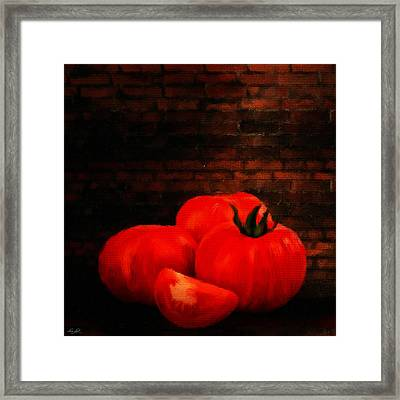 Tomatoes Framed Print by Lourry Legarde