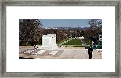 Tomb Of A Soldier In A Cemetery Framed Print by Panoramic Images