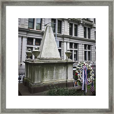 Tomb Of Alexander Hamilton Framed Print by Teresa Mucha