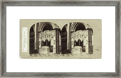 Tomb Of Bishop Redmayn, Ely Cathedral, Uk Framed Print by Artokoloro