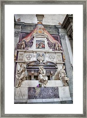 Tomb Of Michelangelo Framed Print by Melany Sarafis
