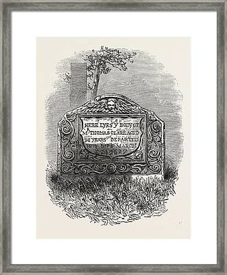 Tomb Of The Mate Of The Mayflower, Which Was The Ship That Framed Print by American School