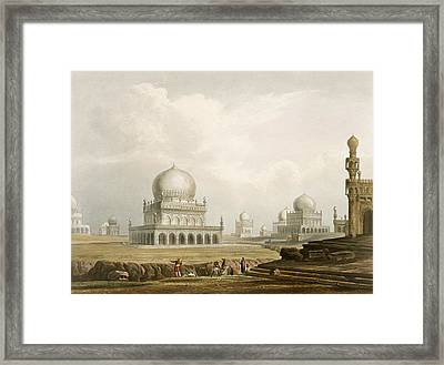 Tombs Of The Kings Of Golconda In 1813 Framed Print by Captain Robert M. Grindlay