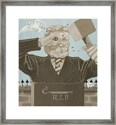 Tombstone Framed Print by J L Meadows