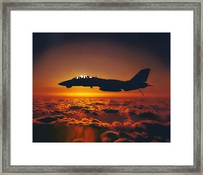 Tomcat Sunrise Framed Print by Peter Chilelli