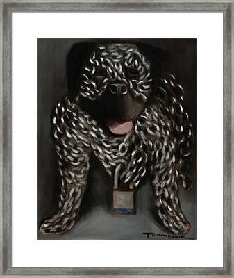 Tommervik Dog Chain Art Print Framed Print by Tommervik