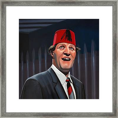 Tommy Cooper Framed Print by Paul Meijering
