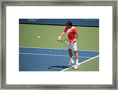 Tommy Haas  Framed Print by James Marvin Phelps