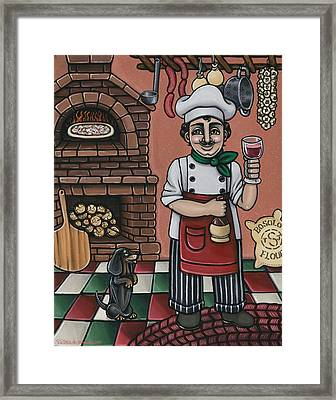 Tommys Italian Kitchen Framed Print by Victoria De Almeida