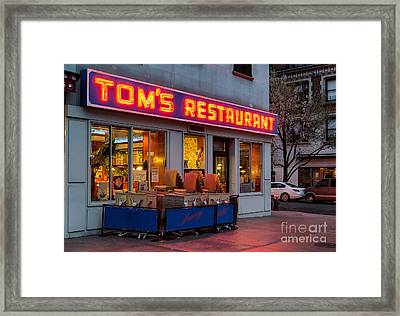 Tom's Restaurant Framed Print by Jerry Fornarotto