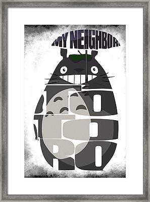 Tonari No Totoro - My Neighbor Totoro Framed Print by Ayse Deniz