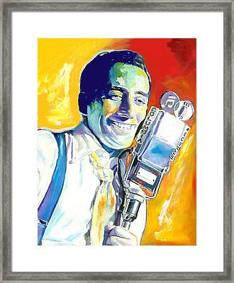 Tony Bennett Framed Print by Vel Verrept
