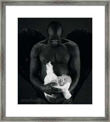 Tony Holding Annabelle Framed Print by Anne Geddes