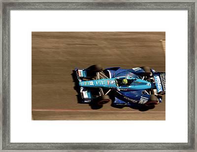 Tony Kanaan Framed Print by Denise Dube