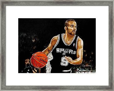 Tony Parker  Framed Print by Al  Molina