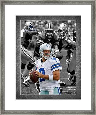 Tony Romo Cowboys Framed Print by Joe Hamilton