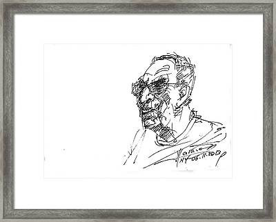 Tony Framed Print by Ylli Haruni