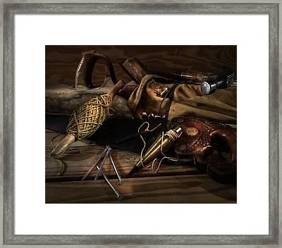 Tools Of A Carpenter Framed Print by James Barber