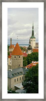 Toompea View, Old Town, Tallinn, Estonia Framed Print by Panoramic Images