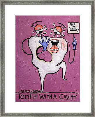 Tooth With A Cavity Dental Art By Anthony Falbo Framed Print by Anthony Falbo