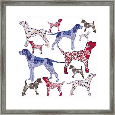 Top Dogs Framed Print by Sarah Hough