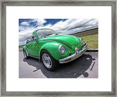 Top Down Cruising - Vw Bug Framed Print by Gill Billington