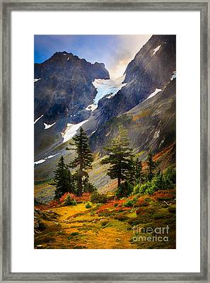 Top Of Cascade Pass Framed Print by Inge Johnsson