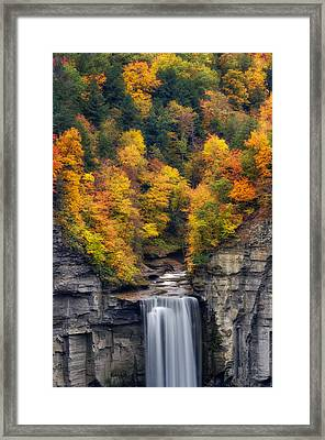 Top Of The Falls Framed Print by Mark Papke