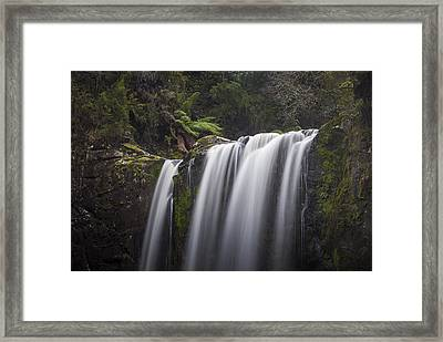 Top Of The Falls Framed Print by Shari Mattox
