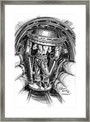 Top Turret B-17 1943 Framed Print by Padre Art