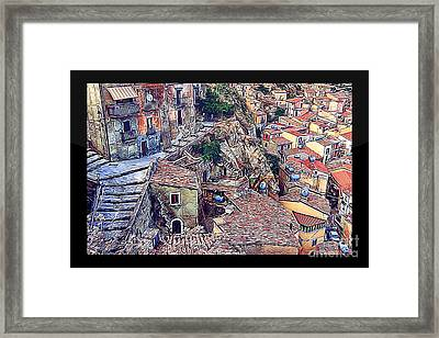 Top View Of Nicosia Framed Print by Stefano Senise