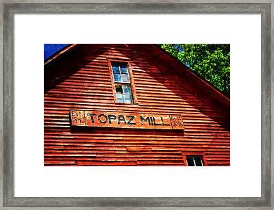 Topaz Framed Print by Marty Koch
