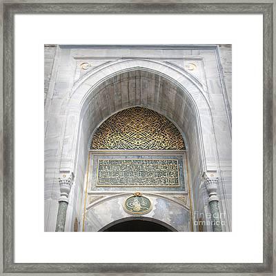 Topkapi Palace Entrance Framed Print by Antony McAulay