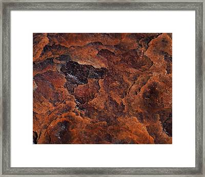 Topography Of Rust Framed Print by Rona Black