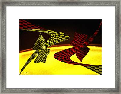 Topology And Infinite. Framed Print by Ramon Martinez