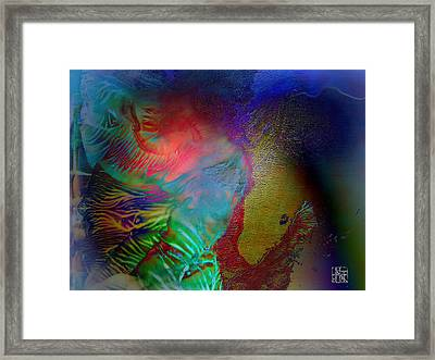 Topology Of Decalcomania Framed Print by Otto Rapp