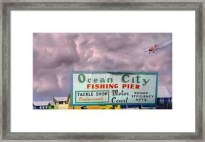 Topsail Island 1996 Ocean City Framed Print by Betsy Knapp