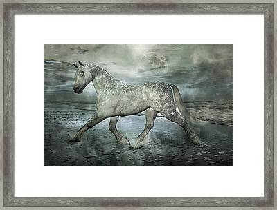 Topsail Island The Gray  Framed Print by Betsy C Knapp