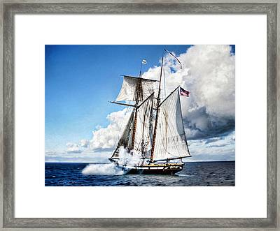 Topsail Schooner Framed Print by Peter Chilelli