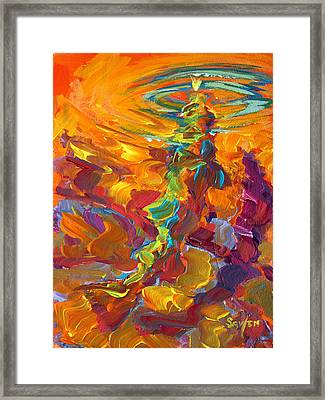 Topwater Trout Abstract Tour Study Framed Print by Savlen Art