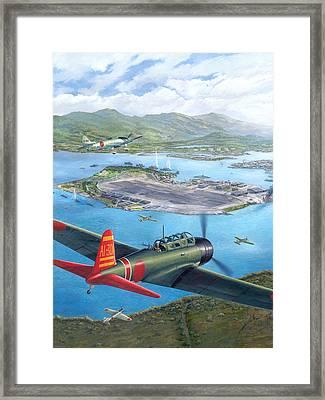 Tora Tora Tora The Attack On Pearl Harbor Begins Framed Print by Stu Shepherd