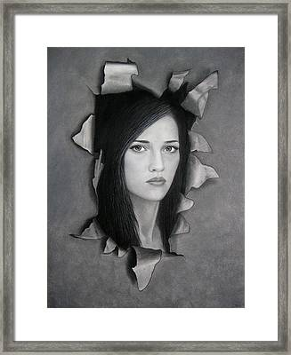 Torn Framed Print by Lynet McDonald