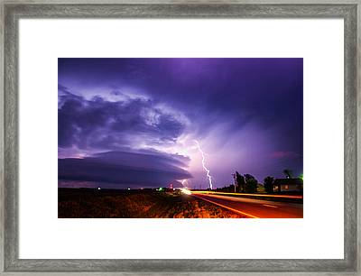 Tornado Warning In Northern Buffalo County Framed Print by NebraskaSC