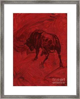 Toro Painting Framed Print by Konni Jensen