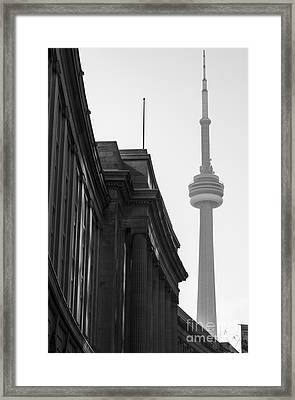 Toronto Cn Tower Framed Print by Matt  Trimble