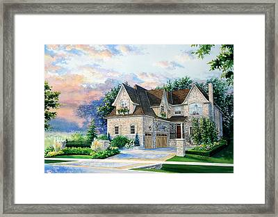 Toronto Family Home Framed Print by Hanne Lore Koehler