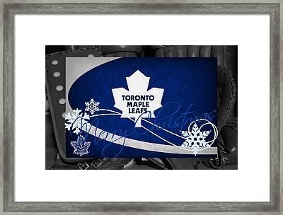 Toronto Maple Leafs Christmas Framed Print by Joe Hamilton