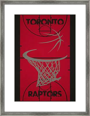 Toronto Raptors Court Framed Print by Joe Hamilton