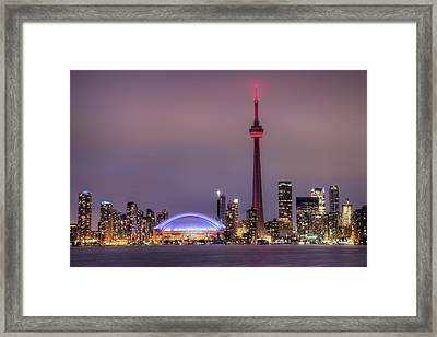 Toronto Skyline Framed Print by Shawn Everhart